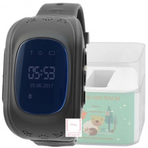 GPS Smart Kids Watch FW01S черный корпус