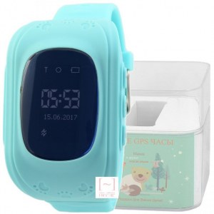 GPS Smart Kids Watch FW01 голубой корпус