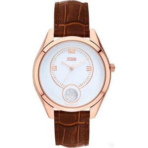 ORBA LEATHER ROSE GOLD BROWN 47311/RG/BR